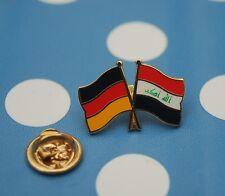 Freundschaftspin Deutschland Irak Iraq Iraqe Schriftzug Pin Button Badge Sticker