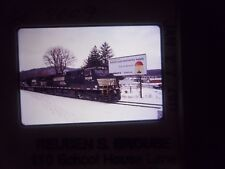 Original Slide Train RR Pa Sunbury freight NS Sign highway bill board PP&L pass