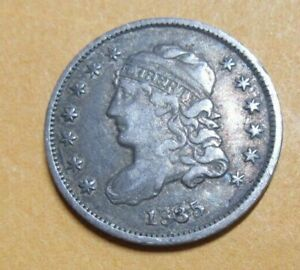United States Silver Capped Bust Half Dime 1835 Grade As Pictures.