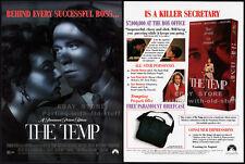 THE TEMP__Original 1993 Trade AD / movie promo__LARA FLYNN BOYLE__TIMOTHY HUTTON