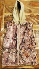 Cabelas Boys Woodland Camo Vest Size L