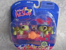 Littlest Pet Shop Super Rare TURTLE TWINS lot #7 & #8 Retired NIB First 80 Pets!