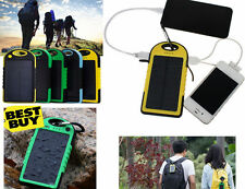 Caricabatterie solare,2 porte USB,ricarica cellulare,escursioni,impermeabile,led