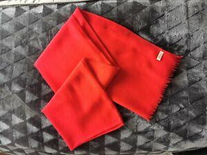 Scottish 100% Cashmere Red Pashmina /scarf