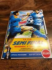 WIMBLEDON V LUTON TOWN 1988 FA CUP SEMI FINAL PROGRAMME MINT LOOK FREE POSTAGE