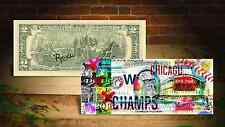 2016 CHICAGO CUBS Championship Genuine US $2 Bill SIGNED by Artist RENCY Banksy