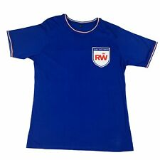 More details for robbie williams 2013 take the crown tour t-shirt top - football style - large