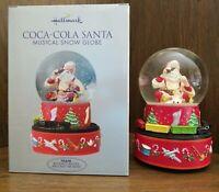 Hallmark Christmas Coca-Cola Santa Musical Snow Globe with Moving Train 2001