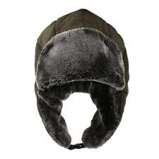 Men Women Trooper Trapper Ear Flap Hat Winter Thermal Warm Cap Army Green