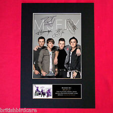 More details for mcfly signed reproduction autograph mounted photo print a4 303