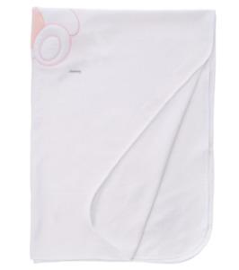 Italbaby Blanket Throw Blanket For Baby 107x150cm Colour White/Pink