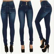 Women's High Waisted Slim Fit Stretchy Skinny Jeans Ladies Jeggings Denim Pants