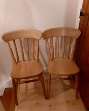 Two farmhouse chairs