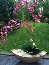 Neu edle Orchidee Pink/Malve 66 cm hoch künstliche Blumen Orchideen Kunstblumen