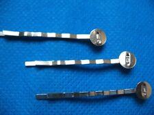 50 Metal Bobby Hair Pin 50mm Clip w/Pad 8mm-Silver S040