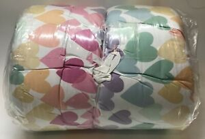 Pottery Barn Kids Evie Heart Dream Puff Recycled Comforter Full/Queen, Free Ship