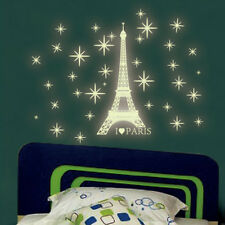 Paris Eiffel Tower Wall Sticker Decal Vinyl Home Decor Bedroom Glow in the Dark