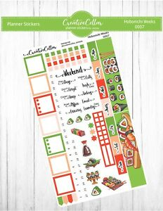 HW-0007 || Planner Stickers Sushi Fits the Hobonichi Weeks Fish