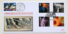 FIRE & LIGHT 2000 BENHAM FDC CARRIED THROUGH CHANNEL TUNNEL FOLKESTONE H/S