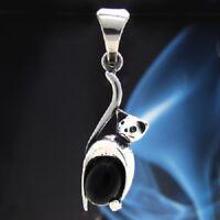 Onyx Silber 925 Anhänger Sterlingsilber Damen Schmuck A0100