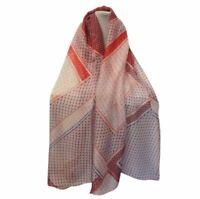 Sciarpa donna estiva foulard grande stola scialle pashmina scaldacollo da rosso