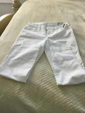 Old Navy Women's Mid-Rise Pixie Chino Pants Size 8- White- NWT