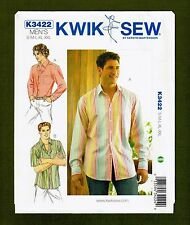 Mens Long or Short Sleeve Shirts Sewing Pattern (Sizes S-XXL) Kwik Sew 3422