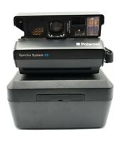 VTG Polaroid Spectra System SE Instant Film Camera Case Manual Strap Untested