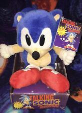 1997 Sega Sonic The Hedgehog Talking Plush New In Box w Tag Rare Works Nos Mib