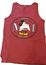 Vintage Walt Disney Designs Mickey Mouse Tank Top T Shirt  90s Large Made in USA