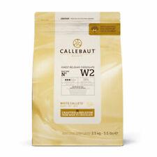 Callebaut White Chocolate Easimelt Finest Belgian Chocolate Callets 2.5Kg