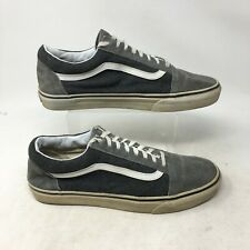 Vans Off The Wall Sneakers Casual Skate Shoe Low Top Lace Up Cap Toe Grey Men 12
