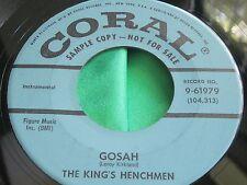 EX Rare Tittyshaker Inst. Bopper 45 : The King's Henchmen ~ Gosah ~ Coral 961979