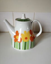 Vintage Figgjo AnneMarie Large Teapot 1970's Pop Art Rare FF Norway Scandinavian