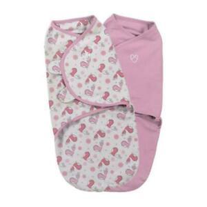 SwaddleMe Baby Girl Pink Swaddling Blanket - 100% Cotton - Summer