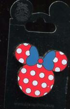 Minnie Mouse Head Icon Red with Blue Bow Disney Pin 102941