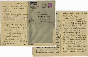 EGYPT to JERUSALEM WW2 CENSORED AIRLETTER ENGLISH + GERMAN 14 JULY 1945