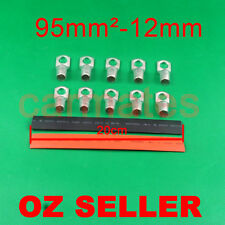 10 Lug Terminals 95-12 plus free heat shrink for Wire Copper Solar Inverter Bank