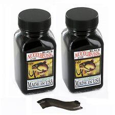 Noodler's Black Waterproof Fountain Pen Ink - Bulletproof,3 ounce - Pack of 2