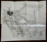 Batavia Jakarta Indonesia Dutch East Indies c. 1905 detailed city plan