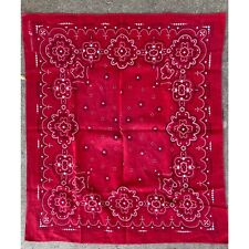 Vintage Red Washfast Color Trunk Up Elephant Bandana Dots And Flowers