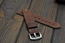 Mens watch strap leather  20mm 22mm 24mm 26mm watch band Handmade