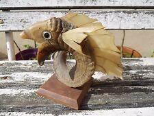 Ancien trophée de pêche marquer  Reaud Poisson yeux en verre