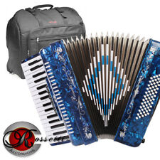 Rossetti 3460 60 Bass 34 Keys 5 Switch Piano Accordion - BLUE + Padded Gig Bag