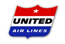 """United Airlines Old Logo 3.25""""x2.25"""" Collectibles Fridge Magnet (LM14152)"""
