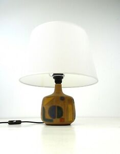 MID CENTURY ABSTRACT CERAMIC VTG TABLE LAMP BY CLAIRE ZANGE FOR KRÖSSELBACH