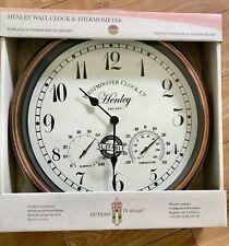 """Reloj De Pared Henley & termómetro 12"""""""