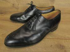John Lobb England Keats Black Leather Derby Dress Shoes 11 EE