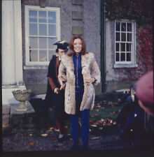The Avengers Diana Rigg rare candid laughing on set Original 2 1/4 Transparency