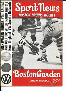 1965-66 Boston Bruins-Canadiens Program Habs Belt B's NICE!!